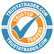 TrustATrader icon indicating that Terry Rich has a highly-rated score of 4.72 / 5 for house exterior wall coatings and damp proofing London and the surrounding home counties.